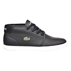 Lacoste Men's High Top Black Leather Sneakers 9